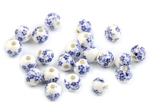 Koraliki porcelanowe kwiaty Ø 6 mm