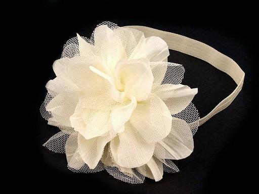 Haarband elastisch mit Blüte