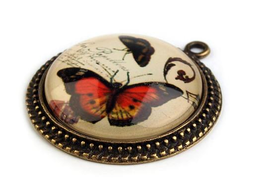 Přívěsek Ø31 mm motýli