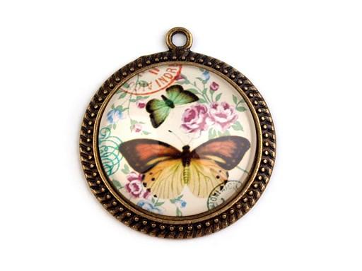 Prívesok Ø31 mm motýle