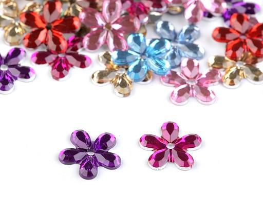 Plastová květina našívací Ø11 mm