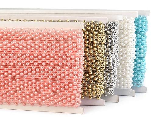 Borta s perlami - půlperle šíře 14 mm