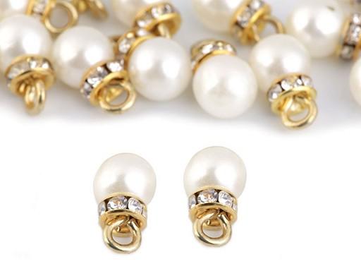 Prívesok perla s rondelkou Ø8 mm
