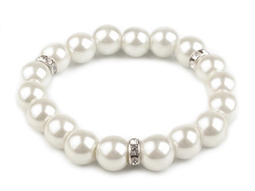 Elastic Bracelet of Faux Pearls