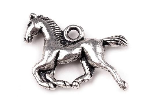 Prívesok kovový kôň 15x18 mm