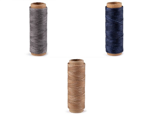Voskované polyesterové nitě šíře 1 mm