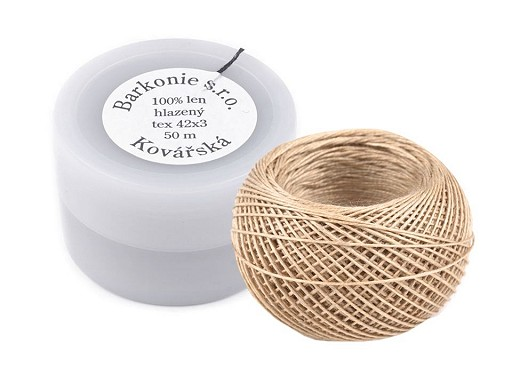 100% Linen Thread 50 m plastic jar