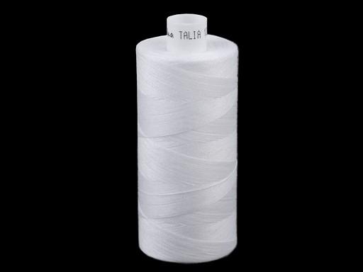Polyesterové nitě pro overlocky i klasické šití Talia 120 návin 1000 m