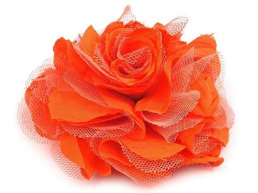 Brož / ozdoba růže Ø9 cm