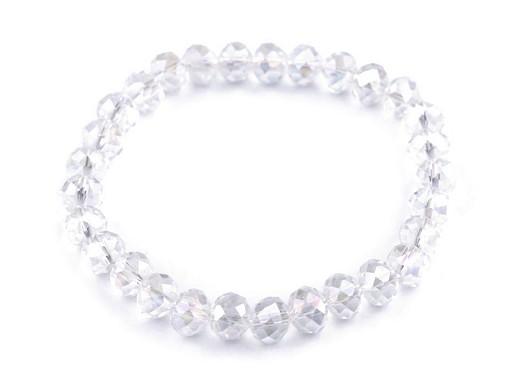 Armband elastisch mit geschliffenen Perlen