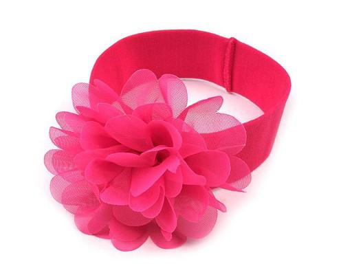 Opaska dziecięca do włosów elastyczna z kwiatkiem