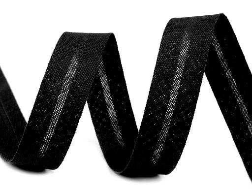 Schrägband Baumwolle Breite 14 mm gefalzt