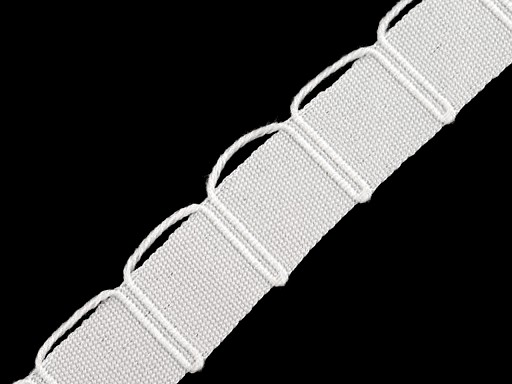 Cotton Tape for Bedding with Loops width 16 mm