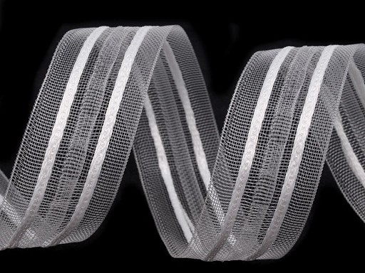 Záclonovka 2 skladová šíře 25 mm