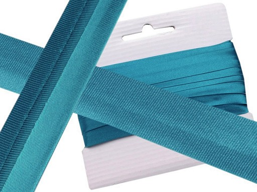 Satin Single Fold Bias Binding width 20 mm measured out