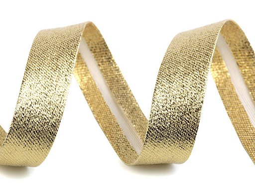 Šikmý prúžok šírka 20 mm zažehlený strieborný, zlatý