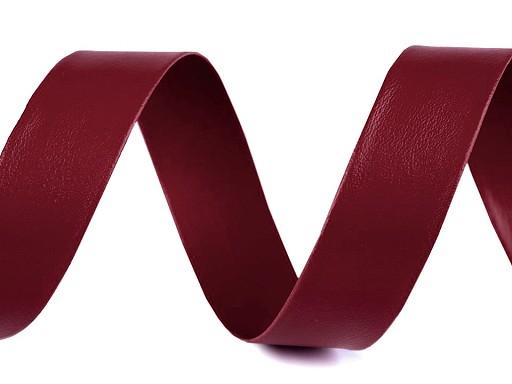 Schrägband Kunstleder Breite 20 mm