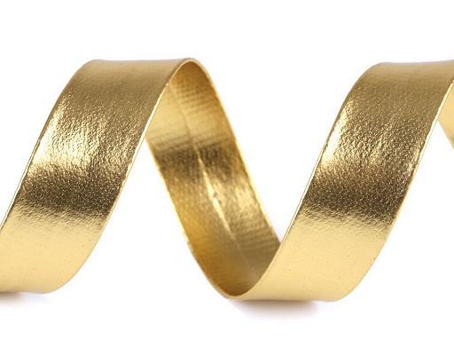 Šikmý prúžok koženkový šírka 20 mm strieborný, zlatý