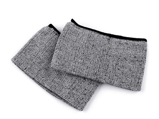 Elastické bezšvíkové bavlnené úplety na rukávy 5,5x20 cm