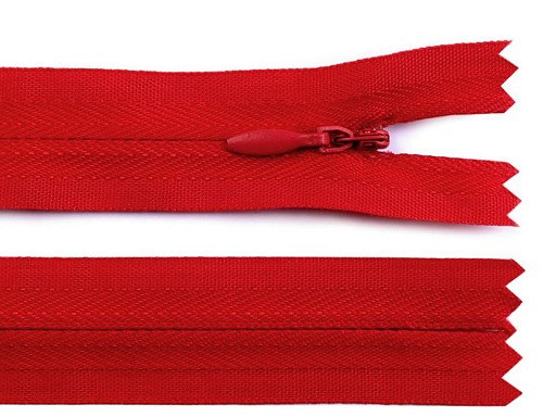 Spirálový zip skrytý šíře 3 mm délka 20 cm