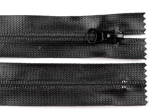 Voděodolný zip šíře 6 mm délka 18 cm spirálový