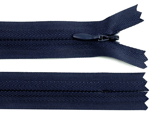 Spirálový zip skrytý šíře 3 mm délka 30 cm