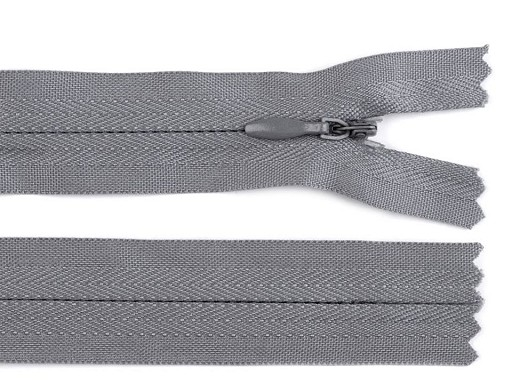 Spirálový zip skrytý šíře 3 mm délka 40 cm