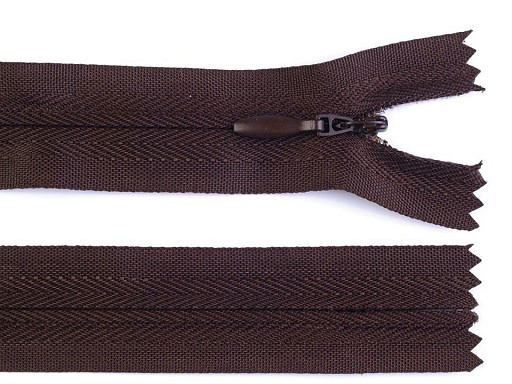 Spirálový zip skrytý šíře 3 mm délka 50 cm