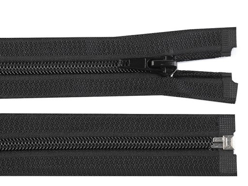 Špirálový zips šírka 5 mm dĺžka 90 cm bundový