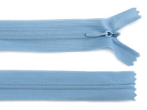 Spirálový zip skrytý šíře 3 mm délka 50 cm dederon