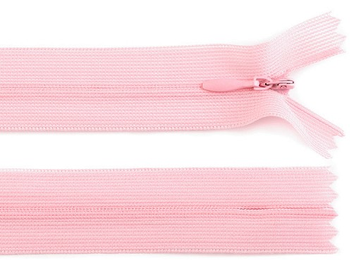 Spirálový zip skrytý šíře 3 mm délka 35 cm dederon
