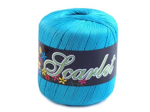 Fir de tricotat din bumbac Scarlet, 100 g