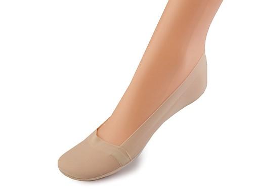 Ponožky do balerín se silikonem a protiskluzem, bavlněné