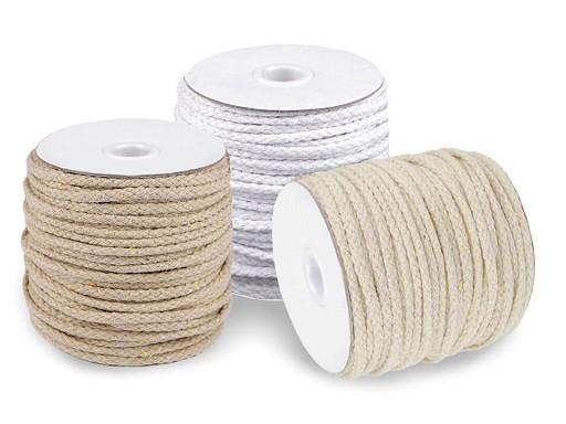 Odevná šnúra / bavlnená priadza / knot Ø5 mm splietaná