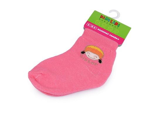 Kojenecké ponožky dívčí vel. 6-12 měsíců