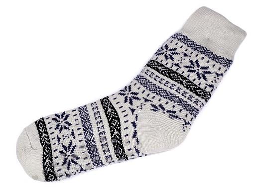 Pánské ponožky zimní  s protiskluzem, dlouhé