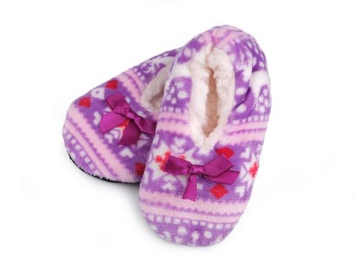 Dětská zimní domácí obuv s protiskluzem, norský vzor
