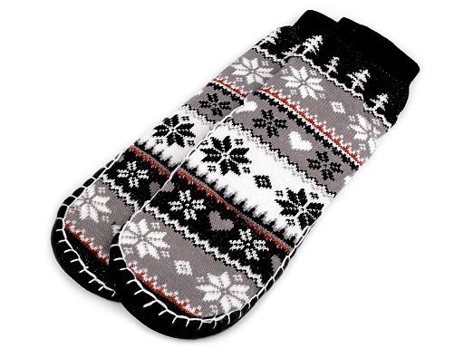 Dámská zimní domácí obuv s protiskluzem, norský vzor