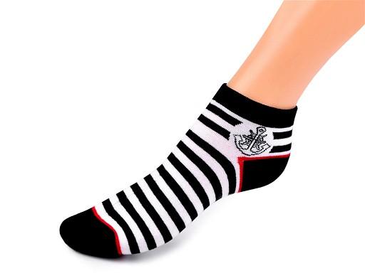 Dámské bavlněné ponožky kotníkové, námořnické