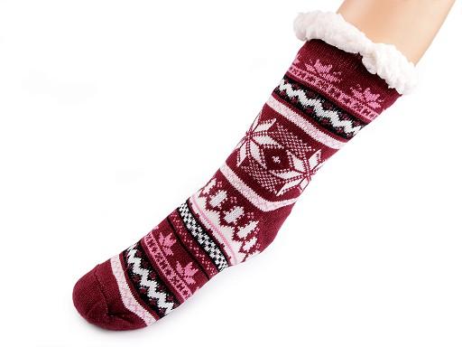 Téli zokni csúszásgátlóval, hosszú