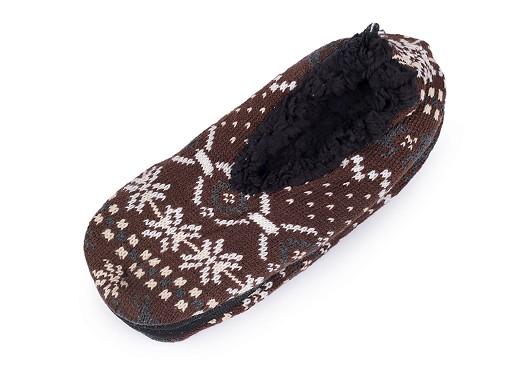 Pánská zimní domácí obuv s protiskluzem