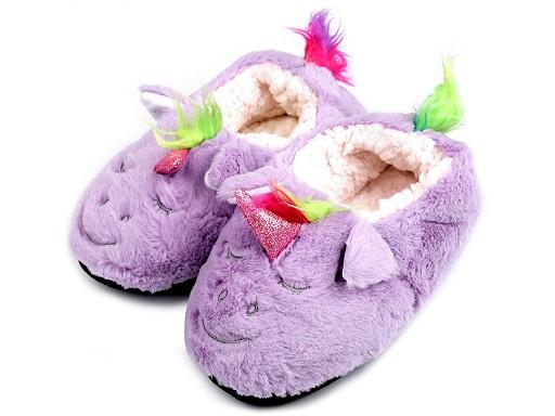 Dětská domácí obuv jednorožec