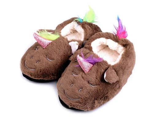 Detská domáca obuv jednorožec