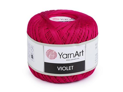 Bavlněná příze háčkovací Violet 50 g
