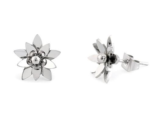 Náušnice květ z nerezové oceli