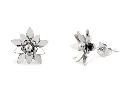 Náušnice kvet z nerezovej ocele