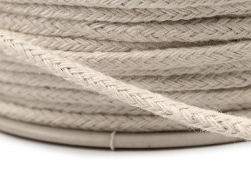 Oděvní šňůra / bavlněná příze / knot Ø2 mm splétaná