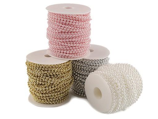 Koraliki / perełki na sznurku Ø4 mm