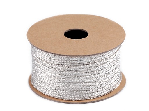 Lurexová šňůrka plochá / provázek šíře 1,2 mm