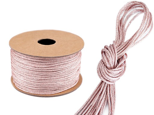 Lurexová šňůra / provázek Ø2 mm